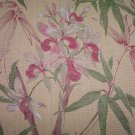 Bamboo & Orchids Fabric 1yd 7inch, TAKE ALL   26.95-FS