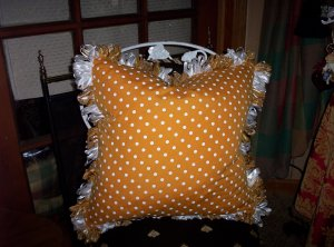 Block Ribbon Loop Fringe on Your Pillow-Labor Charge $10.00
