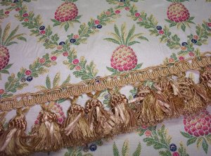 Custom Pineapple Diamond Handmade Pillow with Fringe Choice 175.00-FS