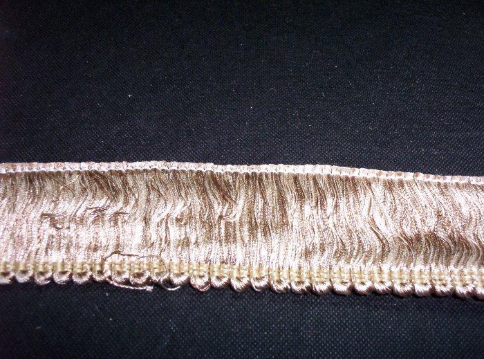 """2"""" Brush Fringe, B2023-C24 Beige/Ivory -12.95yard-FS"""