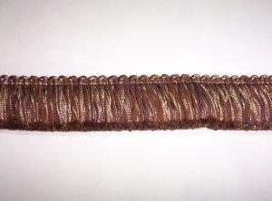 """Brush Fringe, Brown 1 3/4"""", 22028-P99, 12.95per yd"""