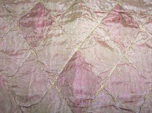 Pair Short Panels Gold Diamond Harlequin 125.00 per set/ PAIR-FS