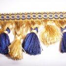 Tassel Fringe Alternating, Staggered Blue, Yellow  23.95per yd-FS