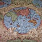Mappamondo, Ocean Fabric  22.95per yd-FS