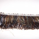 "1480-11/06 2.25"" Shiny Brush Fringe Blue, Brown, Gold  12.99"