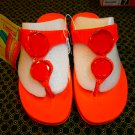 Skechers Tone Ups, Flip Flop Sandals. US size 7. Orange with Gemstones.