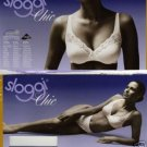 sloggi chic 38c white cotton lace bra brand new in original retail box