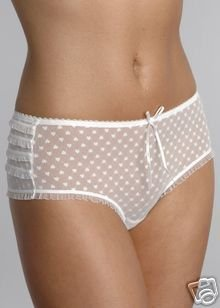 ballet bware white polka knickers size medium to large new with tags