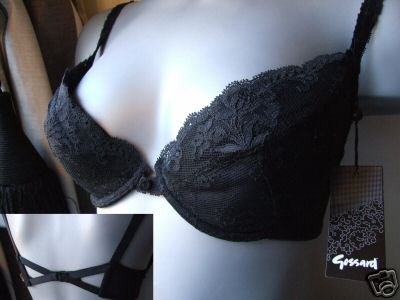 34c gossard black lace superboost padded bra brand new with tag