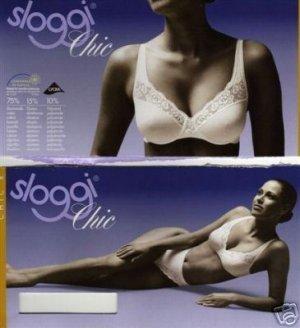 sloggi chic 38b white cotton lace bra brand new in original retail box