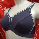 32d navy blue ex brand high impact shock absorber style sports bra