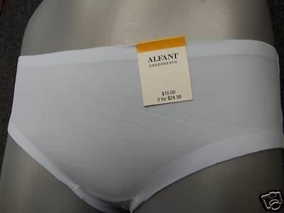 alfani underneath laser cut panty brief blue sml 10/12