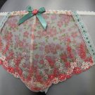 size 14 ex m&s cream pink embroidery short knickers BN
