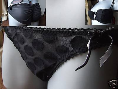 discover mademoiselle black fondant knickers size 16