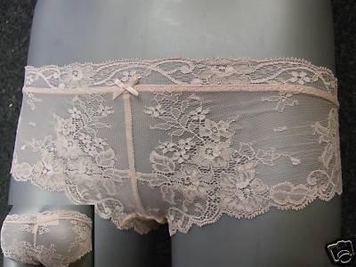 size 12 ex m&s light pink all lace boyshorts BNWOT
