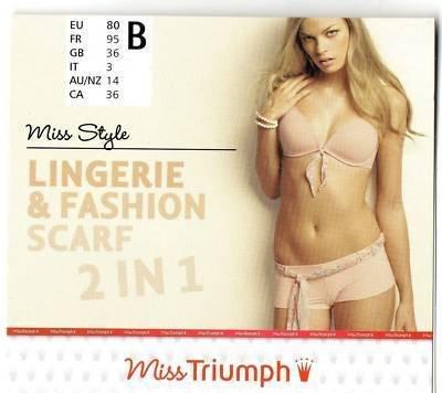 36b triumph miss style padded peach plunge bra BNWT