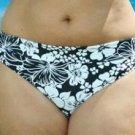 size 14 floral black bikini bottom brief ex brand BNWT