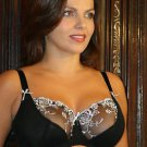 36f Fulfilled Silver Orchid 1/2 lace Underwired Bra BN