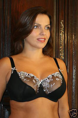 34f Fulfilled Silver Orchid 1/2 lace Underwired Bra BN
