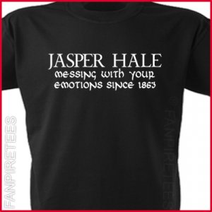 JASPER HALE - Messing With Your Emotions Twilight fan T-Shirt MEDIUM ~ FREE SHIPPING