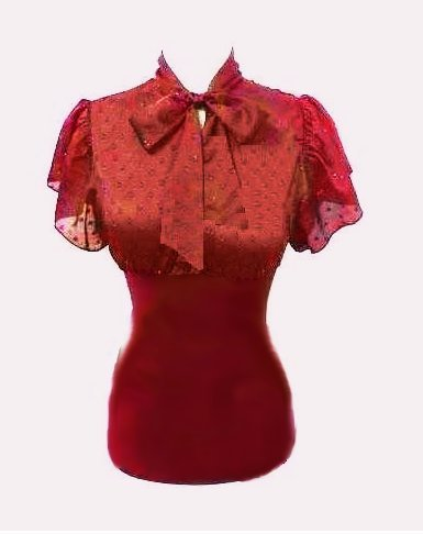 Small Size Sexy Red Tie Front Top for Juniors or Young Women