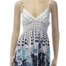 Large Size, Blue Flower Babydoll Summer Dress for Junior Women