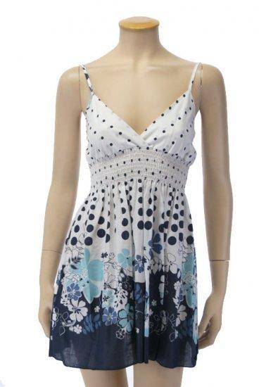 Small Size, Juniors Blue Flower Babydoll Dress