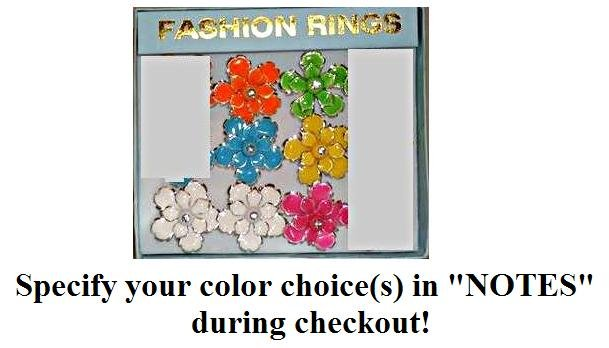 Big Flower Ring, specify your color(s) during checkout