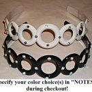 Gemstone Circle Headband, specify black or white color during checkout