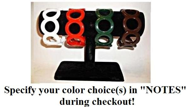 Circle Bangle or Bracelet, specify your color(s) during checkout