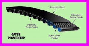 ** Gates PowerGrip Timing Belt 177MXL012 / 92570171 / 9257-0171 MXL NEW  **