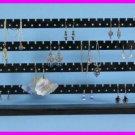 ** Black Painted Solid Wood 148 Pc Earring Bracelet Jewelry Rack Display NEW **