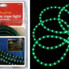 18 FOOT GREEN Holiday Living STRING of ROPE LIGHTS Indoor / Outdoor Tube