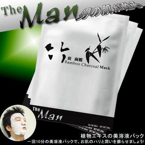 [MD0003]Men's Bamboo Charcoal Facial Mask  �THE MAN���竹���