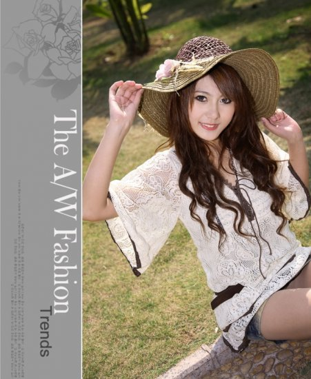 [W0007] Milan Style Fashion Delicate Knitted Blouse 米����款