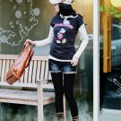 [W0034] Trendy Mickey Mouse T-Shirt - Blue 韩版最新最IN款米老鼠T恤--蓝色