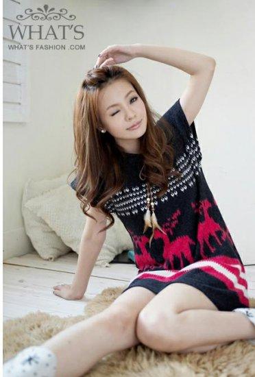 [W0045] Gorgeous Spring Tunic Dress - Pink ���款����身�--�红�