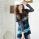 [W0046] Gorgeous Spring Tunic Dress - Blue 可爱春款兔毛绒连身裙--蓝色