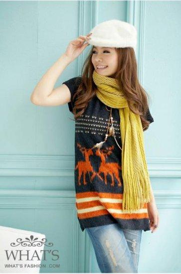[W0040]Gorgeous Spring Tunic Dress - Orange ���款����身�--��