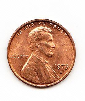 1973 D Lincoln Memorial Cent AU