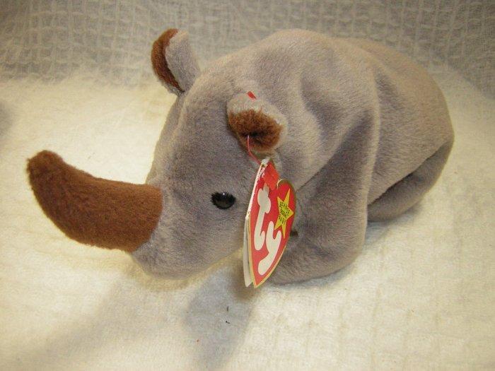 Ty Beanie Babies Spike The Rhino 1996 Retired Hc13