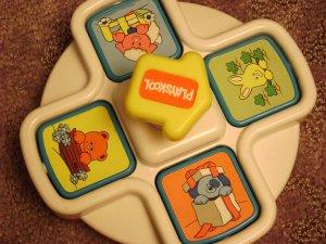 Playskool Push and Flip Animal Pop Up No Battery Vintage Toy