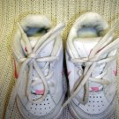 Girls Nike White Sneaker with Pink Trim Non-Marking Sole