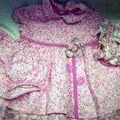 Children's Place Dress with Diaper Cover and Bonnet (HC26)