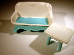 Fisher Price Vintage Loving Family Dollhouse Rocker Chair with table