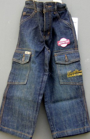 Levis Strauss Signature Jeans Adjustable Waist Band Size 3 NWT