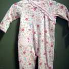 Carters Pink Floral Jumpsuit NWT