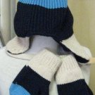 The Children's Place Knit Hat and Mittens with Fleece Lining (HC27)
