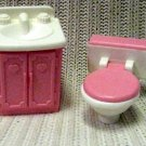 Fisher Price Mattel Loving Family Doll Vanity and Potty 1993 (HC10)
