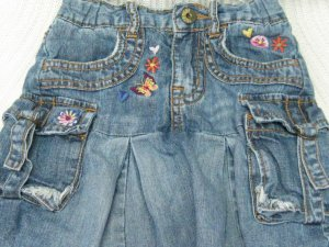 Children�s Place Adjustable Waist Denim Skirt with Panties (HC26)